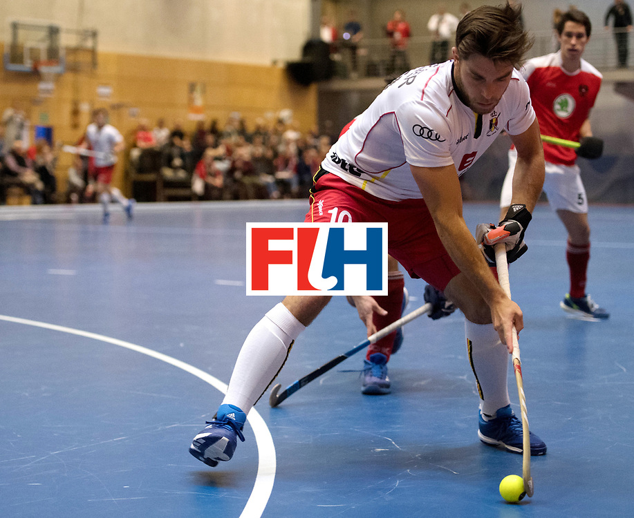 BERLIN - Indoor Hockey World Cup<br /> Austria - Belgium<br /> foto: CHARLIER C&eacute;dric<br /> WORLDSPORTPICS COPYRIGHT FRANK UIJLENBROEK