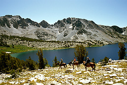 California: Mammoth Lakes, horsepacking, Duck Lake, model released, Photo: camamm101.Photo copyright Lee Foster, 510/549-2202, lee@fostertravel.com, www.fostertravel.com