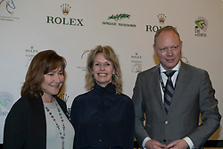 The organizers of the Rolex Grand Slam of Showjumping<br /> In the picture : Linda Southern-Heathcott, President of the Steering Committee of the Rolex Grand Slam of Show Jumping, Anky Van Grunsven, President Indoor Brabant, Marcel Hunze, Event Director Indoor Brabant<br /> Indoor Brabant - Den Bosch 2017<br /> © Dirk Caremans<br /> 12/03/2017