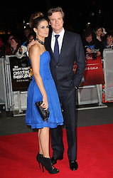 Colin Firth and his wife Livia arriving for the premiere of the Rolling Stones documentary film Crossfire Hurricane at the London Film Festival, Thursday, 18th October 2012. Photo by: Stephen Lock / i-Images