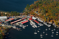 Fall flight over Fay's Boat Yard on Lake Winnipesaukee in Gilford. © 2103 Karen Bobotas Photographer