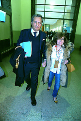 Italy, Milan - February 16, 2017.Patrizia Reggiani at Milan's courthouse with her lawyer  Danilo Buongiorno..Patrizia Reggiani is famous for hiring a hit man to kill her ex-husband Maurizio Gucci in 1995 (Credit Image: © Maule/Fotogramma/Ropi via ZUMA Press)
