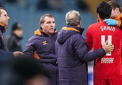 06.12.2012, Stadio Friuli, Udine, ITA, UEFA EL, Udinese Calcio vs FC Liverpool, Gruppe A, im Bild Brendan Rodgers (Trainer, Liverpool FC), Nuri Sahin (# 04, Liverpool FC) // during the UEFA Europa League group A match between Udinese Calcio and Liverpool FC at the Stadio Friuli, Udinese, Italy on 2012/12/06. EXPA Pictures © 2012, PhotoCredit: EXPA/ Juergen Feichter