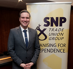 SNP Spring Conference, Saturday 27th April 2019<br /> <br /> SNP Trades Union Group fringe meeting<br /> <br /> The Scottish Trade Union campaign to tackle Corporate Homicide is as old as the Scottish Parliament.  From 2006 the received wisdom has been because any Act would relate to H&S, which is not devolved, the Scottish Parliament may not have legislative competence.  <br /> <br /> This view was clearly politically motivated at the time but it has remained received wisdom within the civil service.<br /> <br /> The Trade Unions' campaign however will not go away.  Trade Unions' believe there is a solution using a previously untested section of the Scotland Act.<br /> <br /> We call upon the political will of the Scottish Government to look at this alternative and right the political wrongs of previous Scottish Executives - it is a win-win.<br /> <br /> This is arranged jointly by the TUG and Scottish Hazards and the Speakers are:<br /> <br /> Patrick McGuire, Legal Advisor to Scottish Hazards<br /> <br /> Lynn Henderson,  Past President, Scottish Trades Union Congress<br /> <br /> Chris Stephens MP, Shadow SNP Spokesperson (Fair Work and Employment)<br /> <br /> Chair:  Greg McCarra, Convener, SNP Trade Union Group<br /> <br /> Pictured:  Tom Arthur MSP <br /> <br /> Alex Todd | Edinburgh Elite media