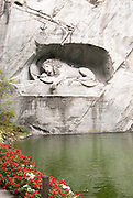 The famous Lion of Lucerne in Geneva, Switzerland.