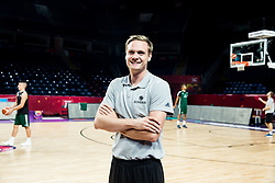 Jaka Lenart at practice session of Team Slovenia 1 day before final match against Serbia at Day 17 of FIBA EuroBasket 2017 at Sinan Erdem Dome in Istanbul, Turkey on September 16, 2017. Photo by Vid Ponikvar / Sportida