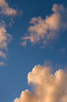 Clouds in evening sky