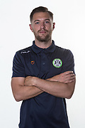 Forest Green Rovers Video Analyst James Parsons during the official team photocall for Forest Green Rovers at the New Lawn, Forest Green, United Kingdom on 29 July 2019.