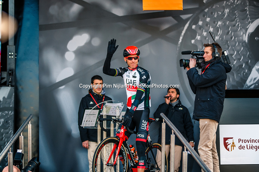 COSTA Rui of UAE Team Emirates before the UCI WorldTour 103rd Liège-Bastogne-Liège from Liège to Ans with 258 km of racing at Liège (258 km to go), Belgium, 23 April 2017. Photo by Pim Nijland / PelotonPhotos.com | All photos usage must carry mandatory copyright credit (Peloton Photos | Pim Nijland)