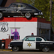 Dick's towing service on historic U.S. Route 66. The Mother Road starts in Chicago traveling through 6 states and ending in Santa Monica, California.<br /> Photography by Jose More