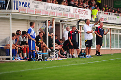 Bristol Rovers Manger, John Ward gives instructions from the side line - Photo mandatory by-line: Dougie Allward/JMP - Tel: Mobile: 07966 386802 16/07/2013 - SPORT - FOOTBALL - Bristol -  Hereford United V Bristol Rovers - Pre Season Friendly