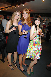 Left to right, BETH FERREIRA, SARAH MANLEY and NATHALIE FERUGLIO at a party for the Royal Marsden Hospital held at the Chelsea Gardener, Sydney Street, London on 6th May 2008.<br /><br />NON EXCLUSIVE - WORLD RIGHTS