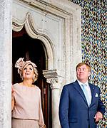 Staatsbezoek van Koning Willem Alexander en Koningin M&aacute;xima, aan de Portugese Republiek.<br /> <br /> Statevisit of King Willem Alexander and Queen Maxima to the republic of Portugal<br /> <br /> Op de foto / On the photo:  Bezoek aan Pal&aacute;cio da Vila, Sintra. Ooit was dit paleis in Sintra het zomerpaleis van de Portugese vorsten /// Visit to Pal&aacute;cio da Vila, Sintra. Ever this palace in Sintra was the summer palace of the Portuguese princes