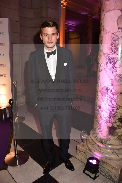 Jeremy Irvine at The Sugarplum Dinner 2017 to benefit the type 1 diabetes charity JDRF held at the Victoria & Albert Museum, Cromwell Road, London England. 14 November 2017.<br /> Photo by Dominic O'Neill/SilverHub 0203 174 1069 sales@silverhubmedia.com