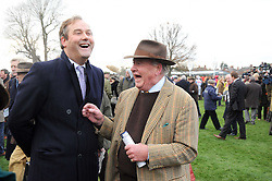 Left to right, the HON.HARRY HERBERT and CHRISTOPHER SPENCE at the Hennessy Gold Cup 2010 at Newbury Racecourse, Berkshire on 27th November 2010.