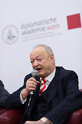 "11.03.2016, Diplomatische Akademie, Wien, AUT, Bürger Salon Podiumsdiskussion zur Präsidentschaftswahl 2016 mit dem Titel ""Was sind meine Ziele für das Amt des Bundespräsidenten?"", im Bild ÖVP-Präsidentschaftskandidat Andreas Khol // Candidate for Presidential Elections Andreas Khol during an open forum according to austrian presidential elections at Diplomatic Academy in Vienna, Austria on 2016/03/11, EXPA Pictures © 2016, PhotoCredit: EXPA/ Michael Gruber"