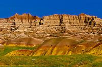 View from Yellow Mounds Overlook, Badlands National Park, South Dakota USA