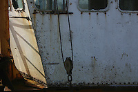 Side of fishing boat, Waterford, Ireland
