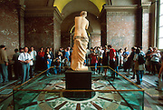 FRANCE, PARIS, CITY CENTER The Louvre Museum, the famous sculpture  called the Venus de Milo