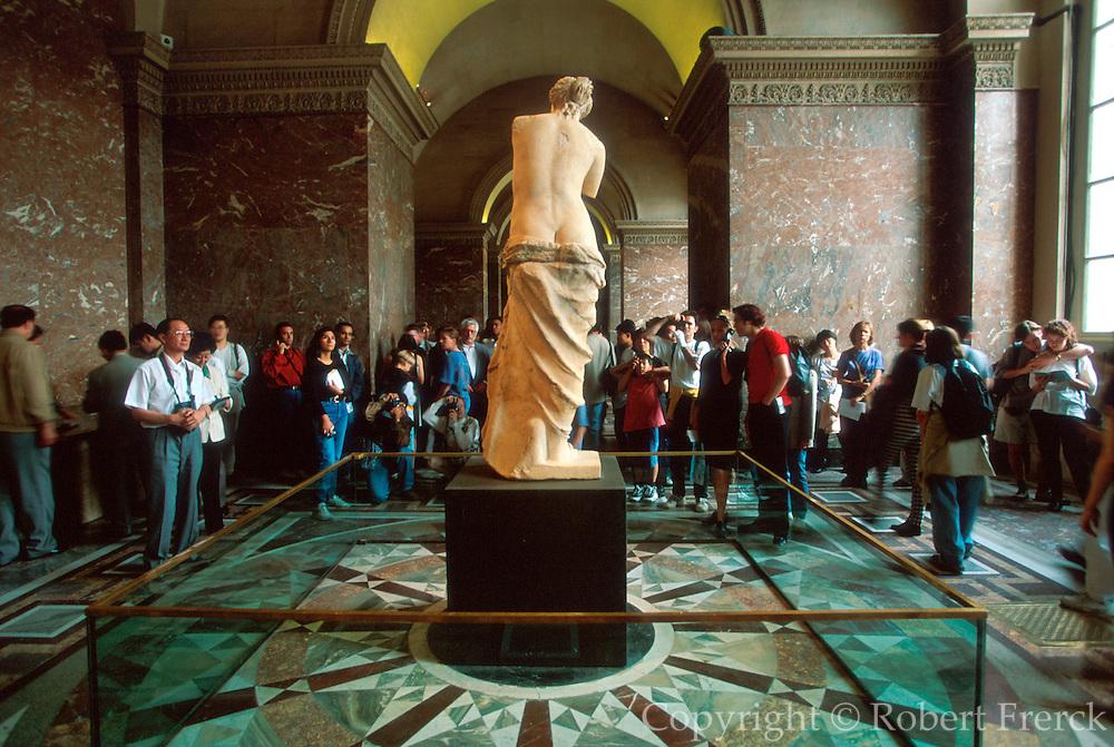 FRANCE, PARIS, CITY CENTER The Louvre Museum, the famous sculpture  called the Venus de Milo