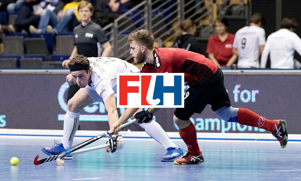 BERLIN - Indoor Hockey World Cup<br /> Men: Switzerland - Belgium<br /> foto: MORARD Yves.<br /> WORLDSPORTPICS COPYRIGHT FRANK UIJLENBROEK