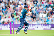 Picture by Allan McKenzie/SWpix.com - 19/05/2019 - Sport - Cricket - 5th Royal London One Day International - England v Pakistan - Emerald Headingley Cricket Ground, Leeds, England - England's Jonny Bairstow cuts.