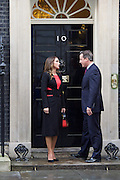 Queen Rania of Jordan visiting No. 10 Downing Street, London, Great Britain to meet David Cameron, Prime Minister.<br /> 8th January 2016 <br /> <br /> <br /> <br /> <br /> Photograph by Elliott Franks <br /> Image licensed to Elliott Franks Photography Services
