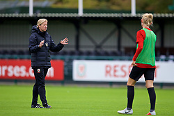NEWPORT, WALES - Tuesday, August 28, 2018: Wales' manager Jayne Ludlow during a training session at Dragon Park ahead of the final FIFA Women's World Cup 2019 Qualifying Round Group 1 match against England. (Pic by David Rawcliffe/Propaganda)