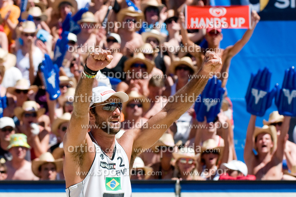 Marcio Araujo of Brazil at A1 Beach Volleyball Grand Slam tournament of Swatch FIVB World Tour 2010, bronze medal, on August 1, 2010 in Klagenfurt, Austria. (Photo by Matic Klansek Velej / Sportida)