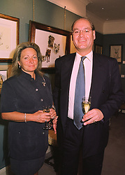 The HON.SIMON & MRS HOWARD they live at the magnificent Catle Howard, at a party in London on 19th May 1998.MHR 17