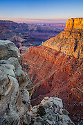 Sunset on Zuni Point. Grand Canyon National Park.