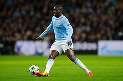 Man City Midfielder Yaya Toure (CIV) in action - Photo mandatory by-line: Rogan Thomson/JMP - Tel: 07966 386802 - 18/02/2014 - SPORT - FOOTBALL - Etihad Stadium, Manchester - Manchester City v Barcelona - UEFA Champions League, Round of 16, First leg.