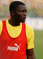 Photo: Steve Bond/Richard Lane Photography.<br />Ghana v Guinea. Africa Cup of Nations. 20/01/2008. Sulley Muntari warms up