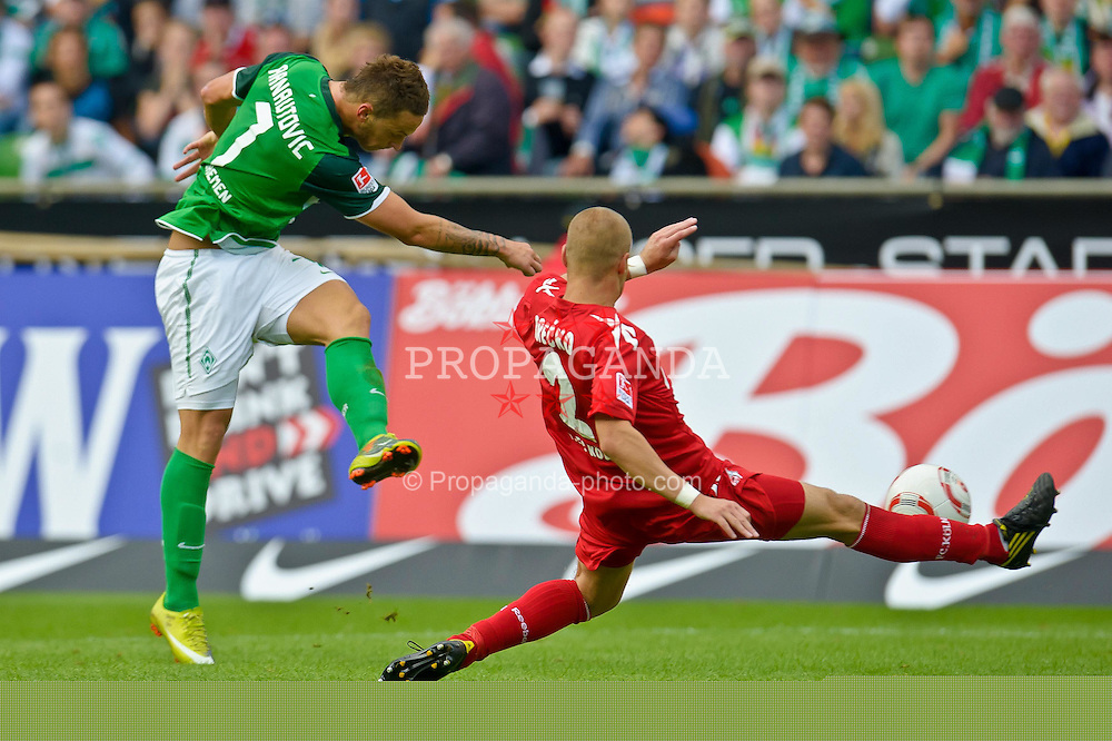 28.08.2010, Weser Stadion, Bremen, GER, 1.FBL, Werder Bremen vs 1. FC Koeln im Bild bre97 erzelt seinen 2. Rewddwe zum 4:1    EXPA Pictures © 2010, PhotoCredit: EXPA/ nph/  Kokenge+++++ ATTENTION - OUT OF GER +++++