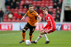 Wolverhampton Wanderers' Barry Douglas (left) in action during the Sky Bet Championship match at Riverside Stadium, Middlesbrough.