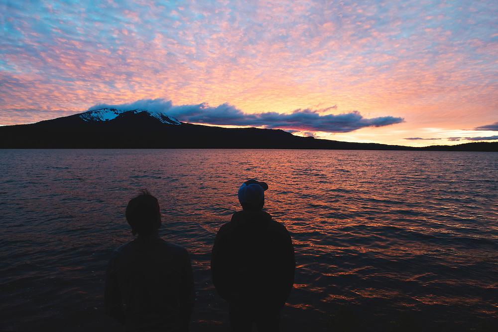 Sunset at Diamond Lake, Oregon