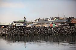 USA ALASKA ST PAUL ISLAND 8JUL12 - General view of the harbor on the island of St. Paul in the Bering Sea, Alaska.....Photo by Jiri Rezac / Greenpeace....© Jiri Rezac / Greenpeace