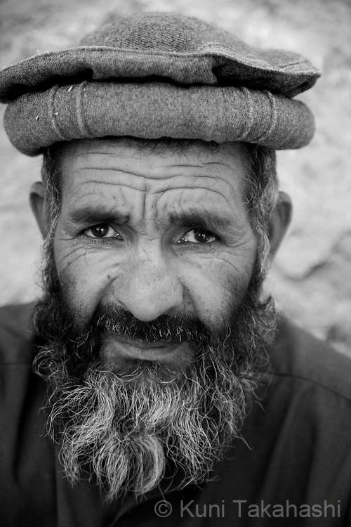 Din Mohammad, 50, of suburban Kabul, farmer.in Kabul, Afghanistan on Aug 15, 2011.(Photo by Kuni Takahashi)