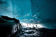 Ice Cave on Viedma Glacier, Parque National los Glaciares, Patagonia, South America