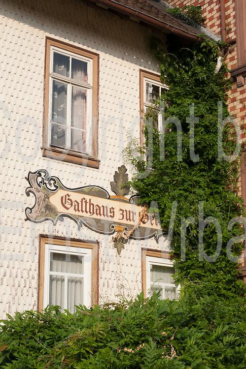 Gasthaus Zur Gerste, Steinbach, Michelstadt, Odenwald, Naturpark Bergstraße-Odenwald, Hessen, Deutschland | pub Zur Gerste, Steinbach, Michelstadt, Odenwald, Hesse, Germany
