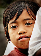 Indonesia, Bali. Portrait of a young girl from Ubud.