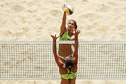 Monika Potokar vs Mojca Pene during Beach Volleyball Slovenian National Championship 2016, on July 23, 2016 in Kranj, Slovenia. Photo by Matic Klansek Velej / Sportida