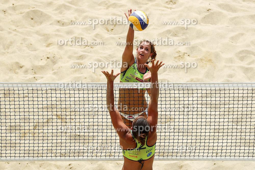 Monika Potokar vs Mojca Pene during Beach Volleyball Slovenian National Championship 2016, on July 23, 2016 in Kranj, Slovenia. Photo by Matic Klansek Velej / Sportida