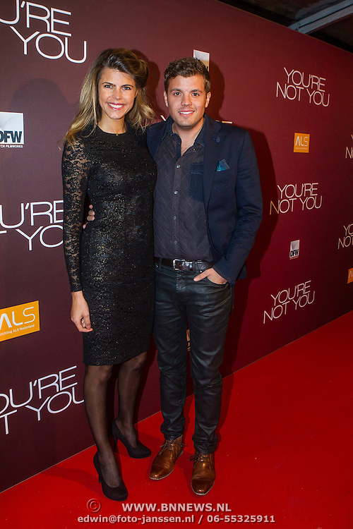 NLD/Amsterdam/20141216 - Filmpremiere You're Not You, Kim Kotter en partner Jaap Reesema