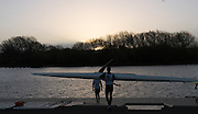 Caversham, Reading, Great Britain,  Athletes preparing to boat to compete in a GBRowing Training Session, Water and Gym/Ergo, at the National Training Base, Berkshire, England.<br /> <br /> Wednesday  18/11/2015<br /> <br /> [Mandatory Credit; Peter Spurrier/Intersport-images]