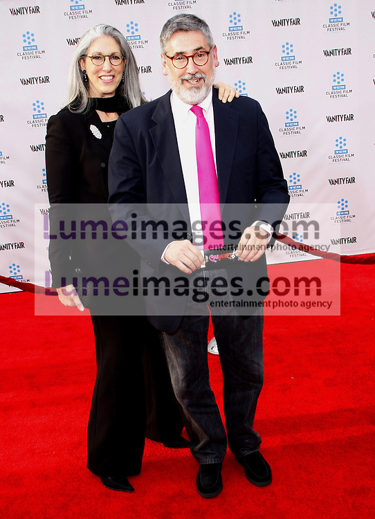 Deborah Landis and John Landis at the 2012 TCM Classic Film Festival Gala Screening of 'Cabaret' held at the Grauman's Chinese Theater in Hollywood on April 12, 2012.