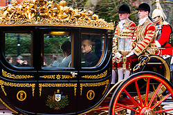 London, March 3rd 2015. Mexican President Enrique Pena Nieto travels with Her Majesty The Queen and other members of the Royal Family by State Carriage along the Mall towards a luncheon at Buckingham Palace after a ceremonial welcome at Horseguards Parade. PICTURED: The Duke of Edinburgh, Prince Philip.