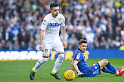 Pablo Hernandez of Leeds United (19) gets past his marker during the EFL Sky Bet Championship match between Leeds United and Bolton Wanderers at Elland Road, Leeds, England on 23 February 2019.