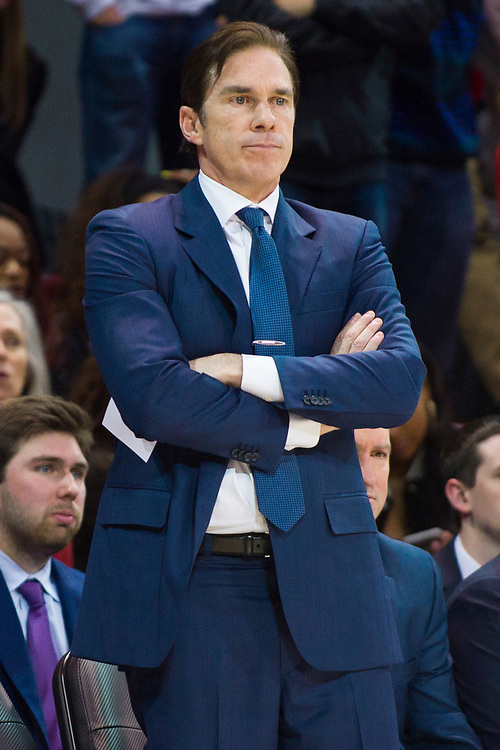 DALLAS, TX - JANUARY 04:  SMU Mustangs head coach Tim Jankovich looks on against the Temple Owls during a basketball game on January 4, 2017 at Moody Coliseum in Dallas, Texas.  (Photo by Cooper Neill/Getty Images) *** Local Caption *** Tim Jankovich