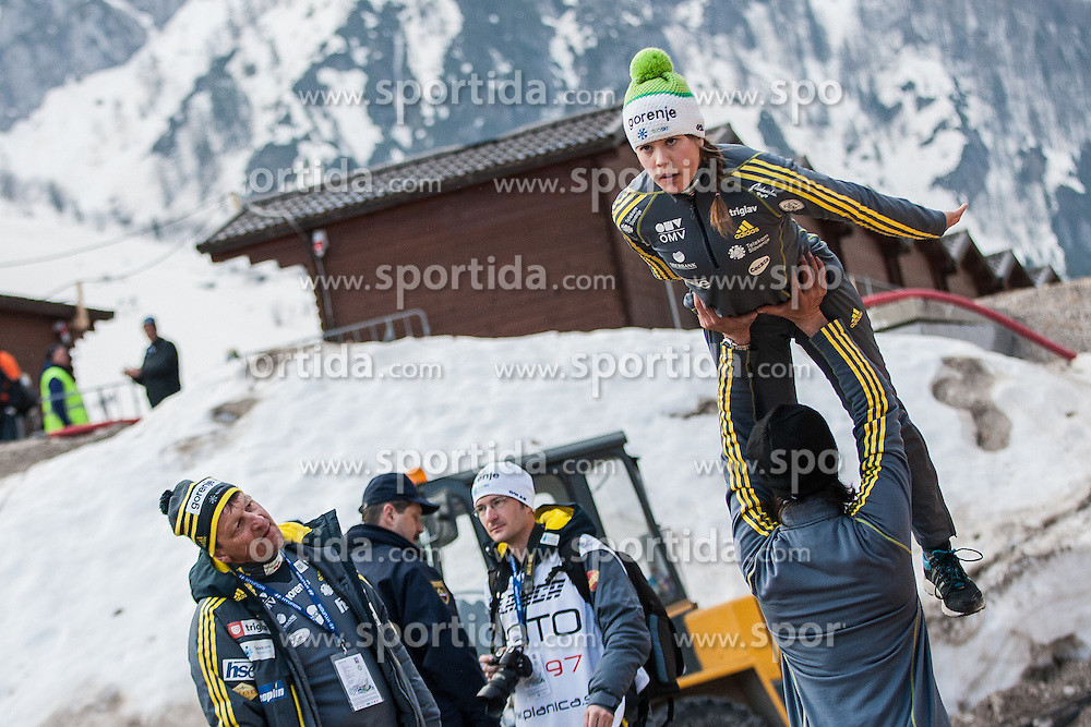Bogataj Ursa of Slovenia during Large Hill Individual Event at 3nd day of FIS Ski Jumping World Cup Finals Planica 2014, on March 22, 2014 in Planica, Slovenia. Photo by Grega Valancic / Sportida